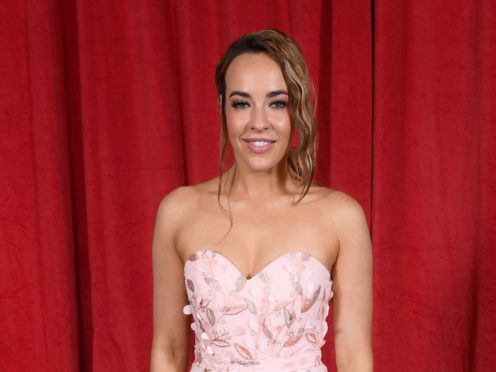 Hollyoaks star Stephanie Davis on the red carpet (REX)