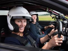 Zara Tindall spins out of control Top Gear race track (BBC/Top Gear)