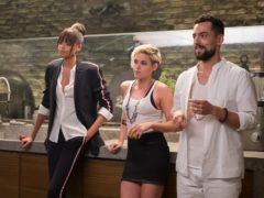Ella Balinska, Kristen Stewart and Luis Gerardo Mendez star in Charlie's Angels (Sony/PA)