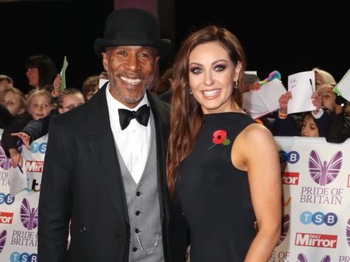 Danny John-Jules and Amy Dowden (Steve Parsons/PA)