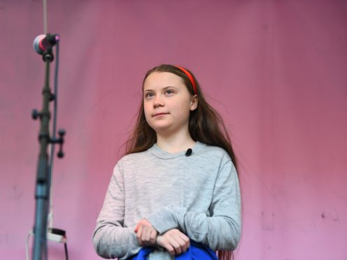Swedish climate activist Greta Thunberg has worked with the 1975 (PA)