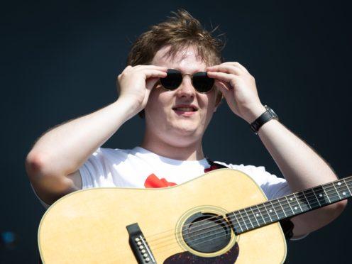 Lewis Capaldi performs at Glastonbury Festival, in Worthy Farm in Pilton, Somerset.