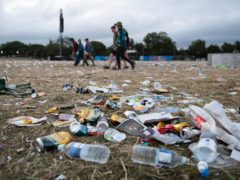 Rubbish left behind at the Glastonbury Festival (Aaron Chown/PA)