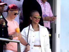 Rihanna spent the afternoon watching cricket (Owen Humphreys/PA)