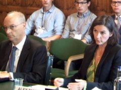 Channel 4 chief executive Alex Mahon, right, and Channel 4 chair Charles Gurassa giving evidence to the Digital, Culture, Media and Sport Committee (House of Commons)