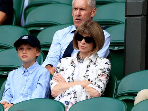 Anna Wintour at Wimbledon (Mike Egerton/PA)