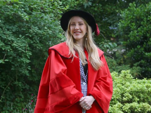 Ellie Goulding received an honorary Doctor of Arts degree from the University of Kent (Gareth Fuller/PA)