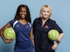 Team captains Oti Mabuse and Jennifer Saunders (Rebecca Naen/Comic Relief/PA)