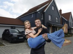 Love Island winners Olivia Buckland and Alex Bowen on MTV Cribs (MTV/Laura Radford/PA)