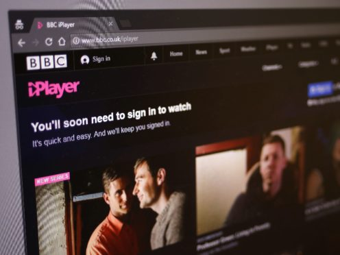 A general view of the BBC iPlayer's home page (Philip Toscano/PA)
