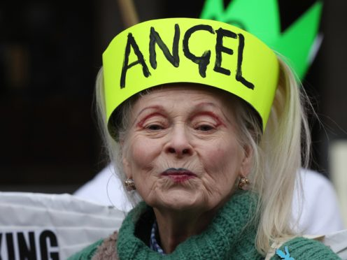 Dame Vivienne Westwood is active in protesting for environmental issues (Jonathan Brady/PA)