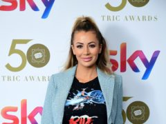 Olivia Attwood attending the TRIC Awards 2019 50th Birthday Celebration held at the Grosvenor House Hotel in London (Ian West/PA)