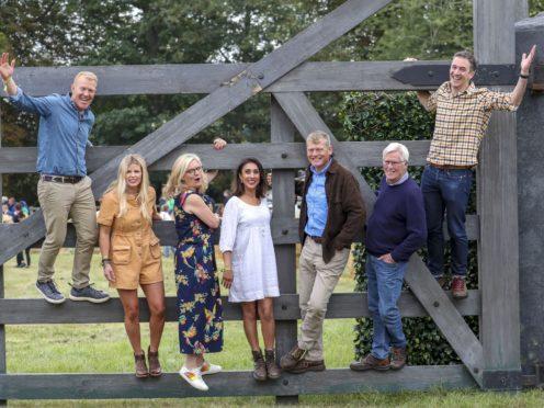 BBC Countryfile presenters Adam Henson, Ellie Harrison, Charlotte Smith, Anita Rani, Tom Heap, John Craven and Joe Crowley (Steve Parsons/PA)