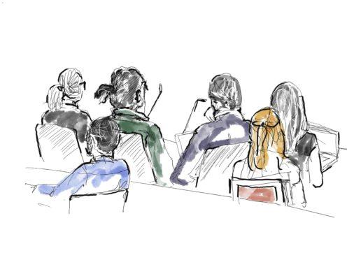 ASAP Rocky, in green shirt, second left (Anna-Lena Lindqvist/TT/AP)