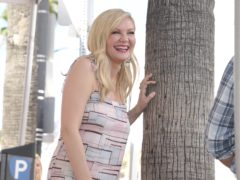 Kirsten Dunst was joined by fiance Jesse Plemons and their young son as she was honoured with a star on the Hollywood Walk of Fame (Richard Shotwell/Invision/AP)