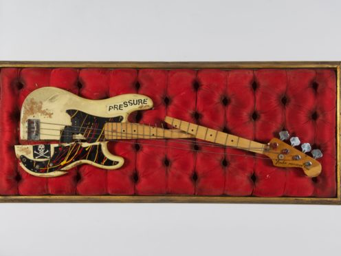 Paul Simonon's broken bass guitar (The Clash archive/PA)