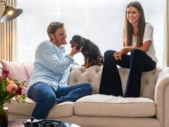 Ryan Libbey and Louise Thompson have teamed up with online interiors company, Wayfair (Alexander Edwards for Wayfair/PA)
