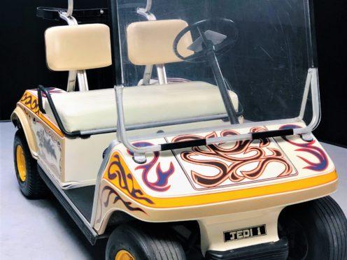 Noel Gallagher's John Lennon-inspired golf buggy (Omega Auctions/PA)