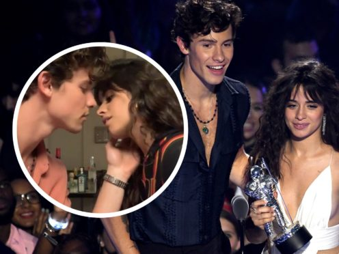 Shawn Mendes and Camila Cabello share bizarre kissing video (PA/Shawn Mendes/Instagram)