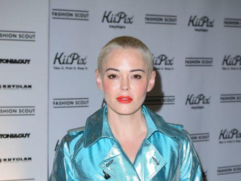 Like Sam Smith, Rose McGowan has said she identifies as non-binary (Ian West/PA)