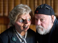 Spitting Image co-creator Roger Law, with a Margaret Thatcher puppet (Joe Giddens/PA)