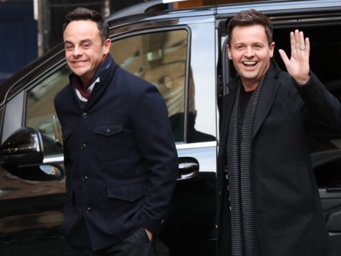Ant McPartlin returns to work on I'm A Celebrity after year away from show (Jonathan Brady/PA)