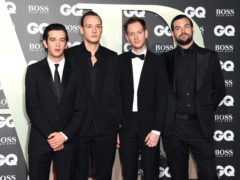 Matthew Healy, George Daniel, Adam Hann and Ross MacDonald of the band The 1975, who won a prize at the GQ awards (Matt Crossick/PA)