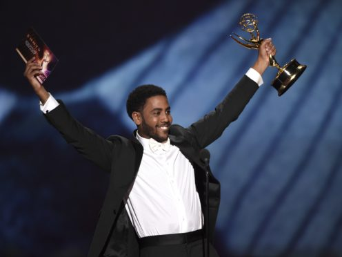 "When They See Us star Jharrel Jerome paid tribute to the ""exonerated five"" as he won his first Emmy Award (Phil McCarten/Invision for the Television Academy/AP Images)"