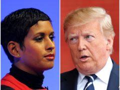 Naga Munchetty and Donald Trump (PA)
