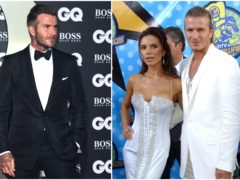 David Beckham spoke about his fashion choices in the past at the GQ Men of the Year Awards (PA)