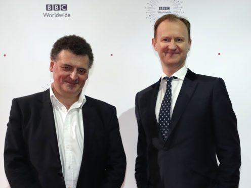 Steven Moffat (left) and Mark Gatiss (Peter Byrne/PA)