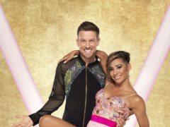 Chris Ramsay with his dance partner Karen Hauer (Ray Burmiston/BBC)