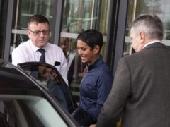 Naga Munchetty after hosting BBC Breakfast for the first time since she was at the centre of an impartiality row over her criticism of Donald Trump (Peter Byrne/PA)