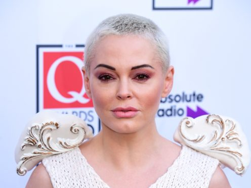 Rose McGowan during the Q Awards 2019 in association with Absolute Radio at the Camden Roundhouse, London (Ian West/PA)