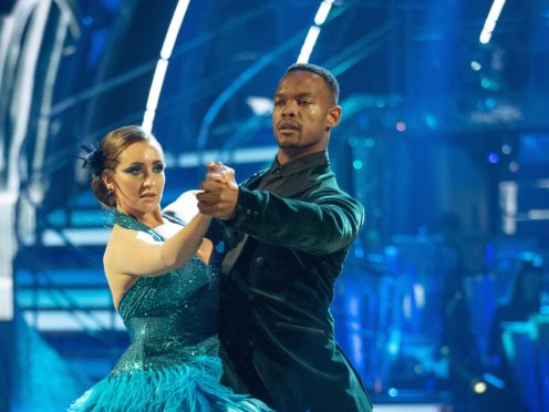 Johannes Radebe and Catherine Tyldesley on Strictly Come Dancing (Guy Levy/BBC/PA)