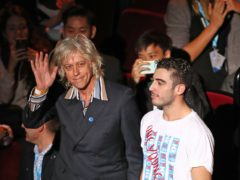 Ambassador Bob Geldof during the opening ceremony of the One Young World summit at the Royal Albert Hall (Gareth Fuller/PA)