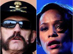Motorhead's frontman Lemmy and Whitney Houston (Ian West/John Giles/PA)