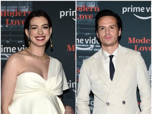 Anne Hathaway and Andrew Scott at the Modern Love premiere in New York (Evan Agostini/AP)