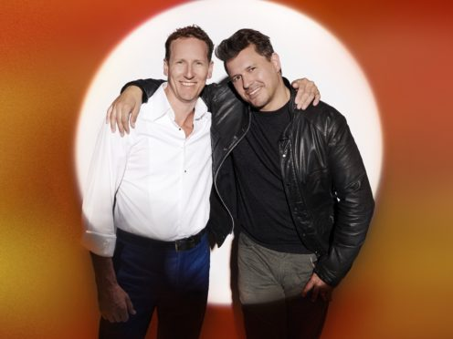 Brendan Cole and Jeremy Edwards are part of the Groups category (ITV)