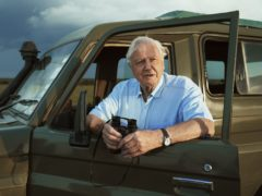 Sir David Attenborough at the Ol Pejeta Conservancy in Kenya while filming for Seven Worlds, One Planet (BBC Studios/Alex Board/PA)