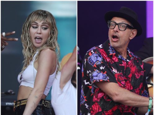 Miley Cyrus and Jeff Goldblum join forces for new jazz song (PA)