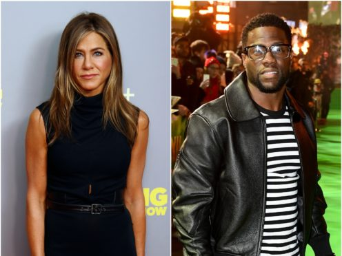 Kevin Hart and Jennifer Aniston were both honoured (PA)