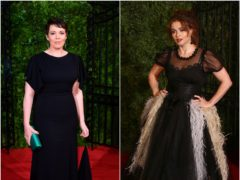 Olivia Colman (left) and Helena Bonham Carter (PA/AP)