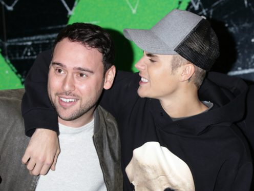 Talent manager Scooter Braun (left) and Justin Bieber (Yui Mok/PA)