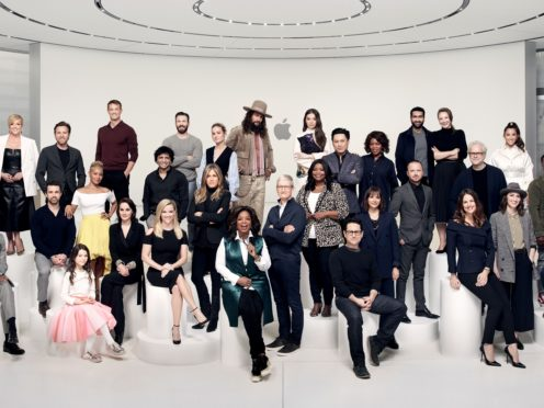 Stars at the launch of the Apple TV+ subscription service (Apple/PA)