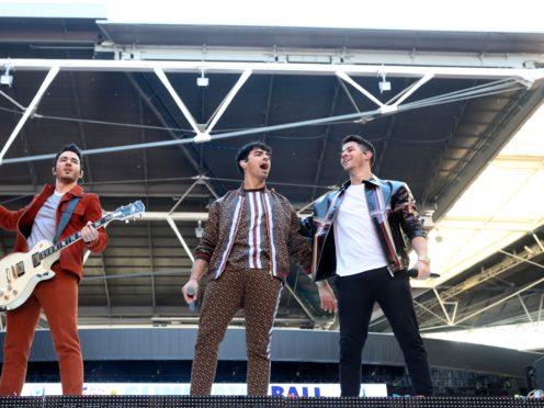 Kevin Jonas, Joe Jonas and Nick Jonas (Isabel Infantes/PA)