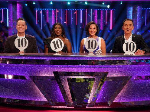 Judges Craig Revel Horwood, Motsi Mabuse, Shirley Ballas and Bruno Tonioli (Kieron McCarron/BBC/PA)