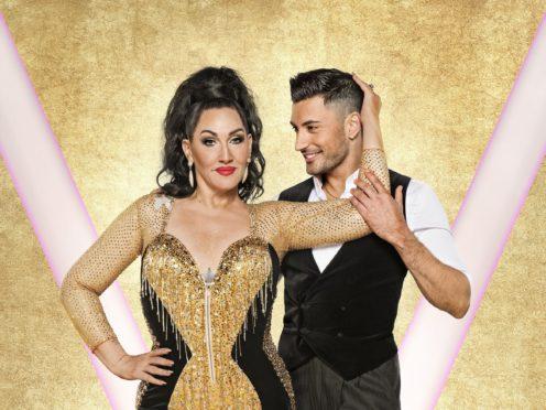 Michelle Visage with her dance partner Giovanni Pernice (Ray Burmiston/BBC)