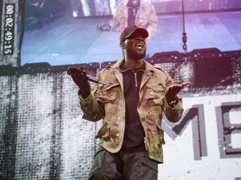 Stormzy performing at the Kiss Haunted House Party held at the SSE Wembley Arena, Wembley, London (Matt Crossick/PA)
