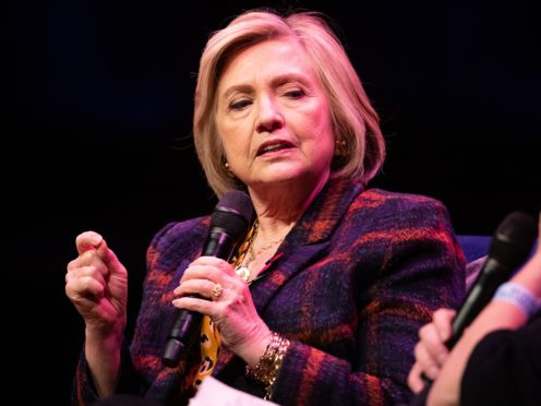 Hillary Clinton has voiced concern about the impact of social media on young women (Aaron Chown/PA)